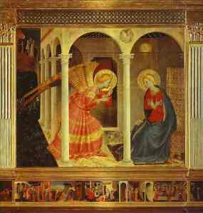 The angel of the Lord declared unto Mary...