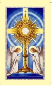 O Sacrament Most Holy, O Sacrament Divine...