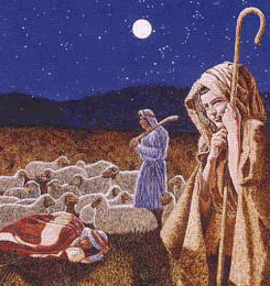 There were shepherds in the field...