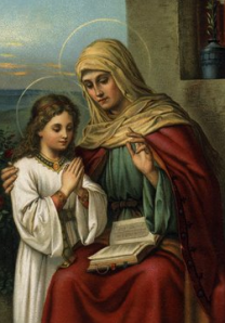 Saint Anne with her daughter, Mary, the Mother of God