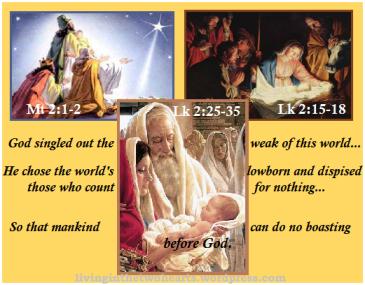 1Cor 1: 27b-30