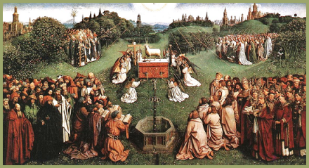 """Adoration of the Lamb"" By Jan van Eyck (1390-1441)"