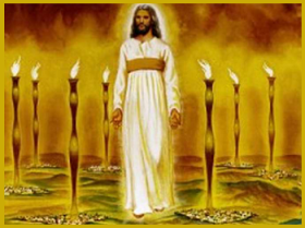 """I saw seven golden lampstands, and in the midst...one like a Son of man..."" ~Rev 1:13"