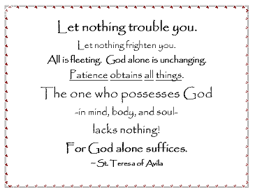 Prayer of St. Teresa of Avila